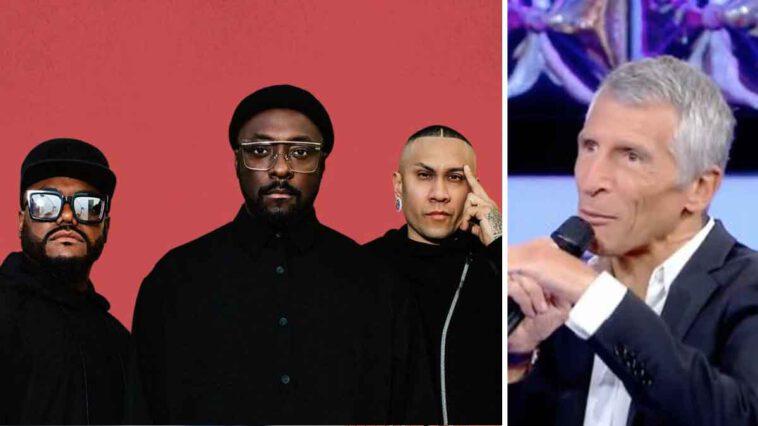 Nagui (The Artist ) exaspéré par le comportement de Black Eyed Peas, l'animateur tacle violemment le groupe en plein direct