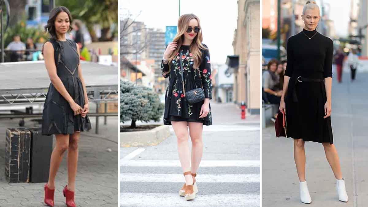 Quelles chaussures tendances porter avec des robes cet automne