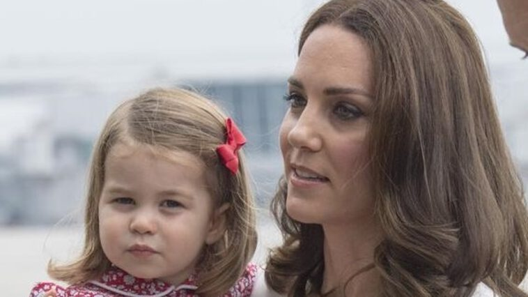 Kate Middleton et Charlotte à Londres