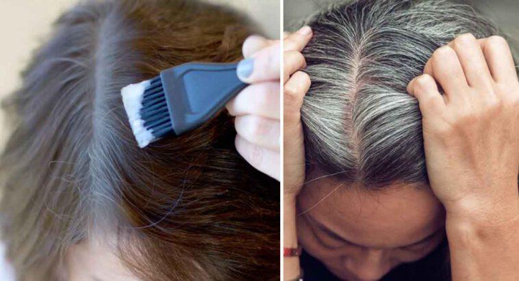5 astuces naturelles pour couvrir les cheveux gris à la maison