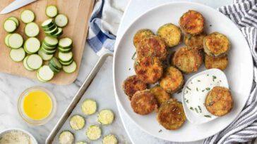 Chips de courgettes croustillantes sans huiles, facile et succulent