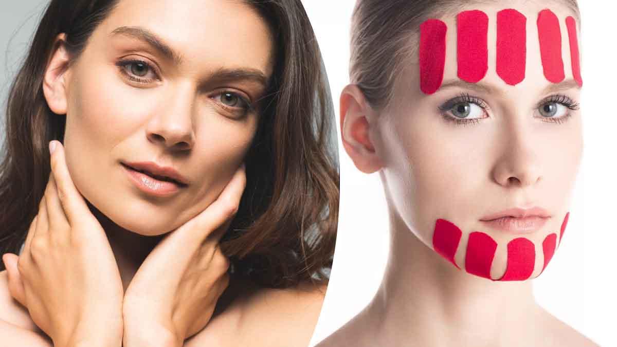 Le taping, une nouvelle technique anti-âge naturelle pour lifter le visage