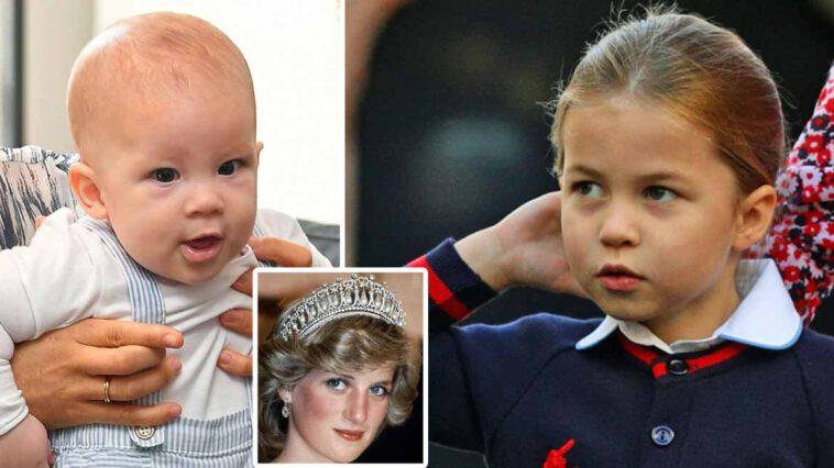 Lilibet Diana et sa cousine Charlotte déjà en concurrence pour une tiare iconique de la princesse Diana